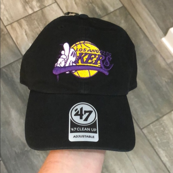 info for be986 87c87 NWT LA Lakers Adjustable Hat